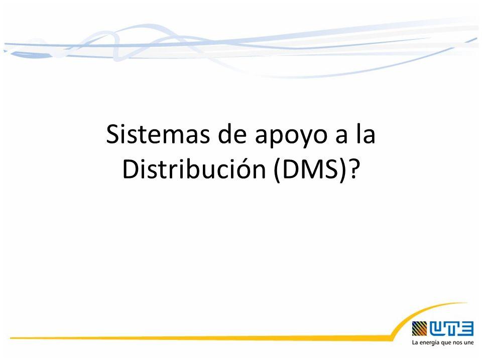 Sistemas de apoyo a la Distribución (DMS)?