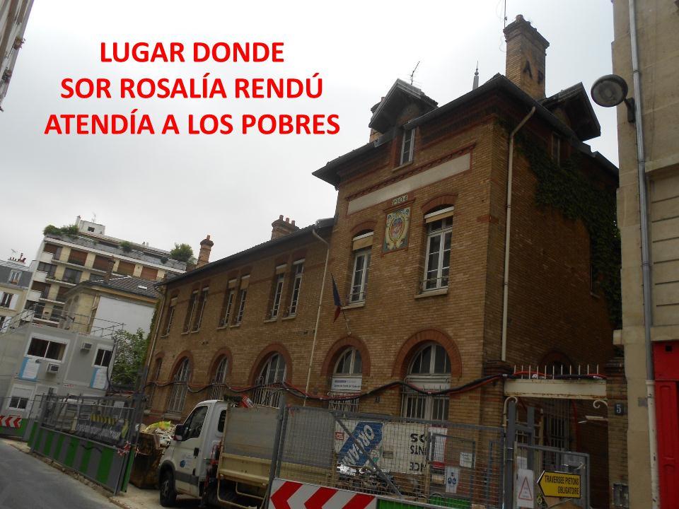 LUGAR DONDE SOR ROSALÍA RENDÚ ATENDÍA A LOS POBRES