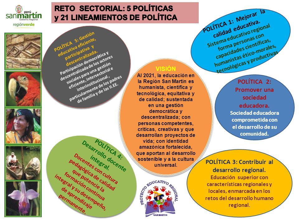 POLÍTICA 1: Mejorar la calidad educativa.