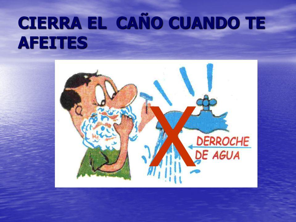 CIERRA EL CAÑO MIENTRAS LAVAS LA ROPA *Utiliza recipientes * Usa la cantidad necesaria de detergente así no tendrás que desperdiciar agua al enjuagar