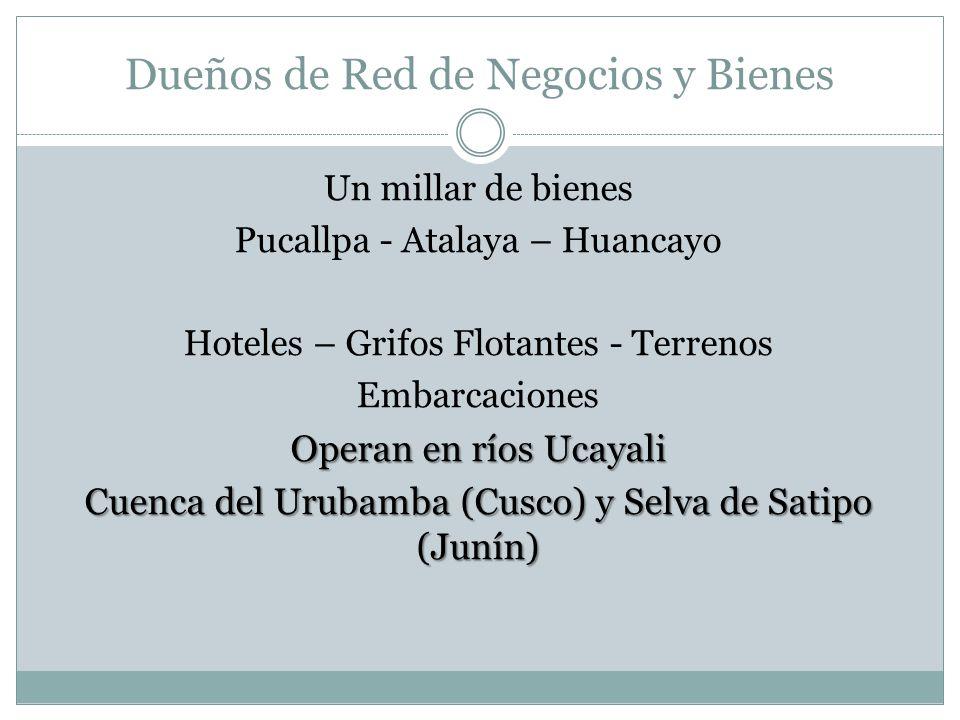 MIÉRCOLES 24 DE ABRIL DE 2013 07:52 Terrenos Empresas de Combustible Grifos Fluviales y Embarcaciones Víctor Quispe Torres Chapulín Antenor Zamora Cor