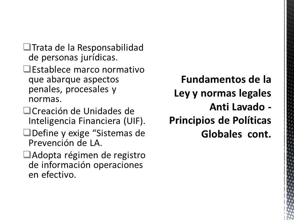 Diseñada por la Comunidad Internacional. Adopta estándares internacionales/normas uniformes. Desarrolla instrumentos jurídicos de Cooperación INT. Ado