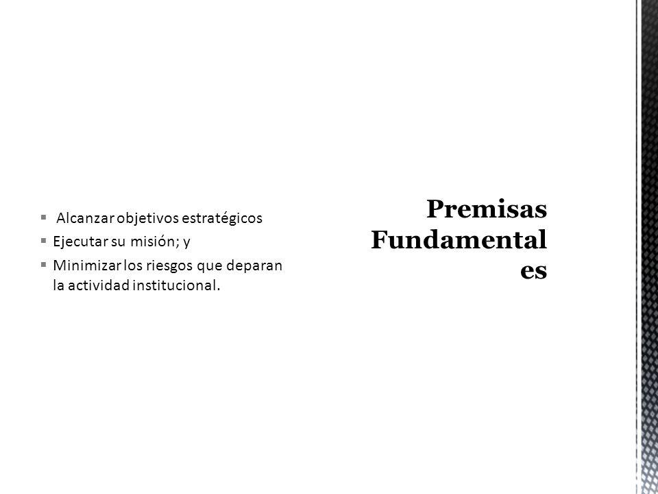 Ambiente de Control Valoración de Riesgos Actividades de Control Información y Comunicación y Monitoreo o Supervisión