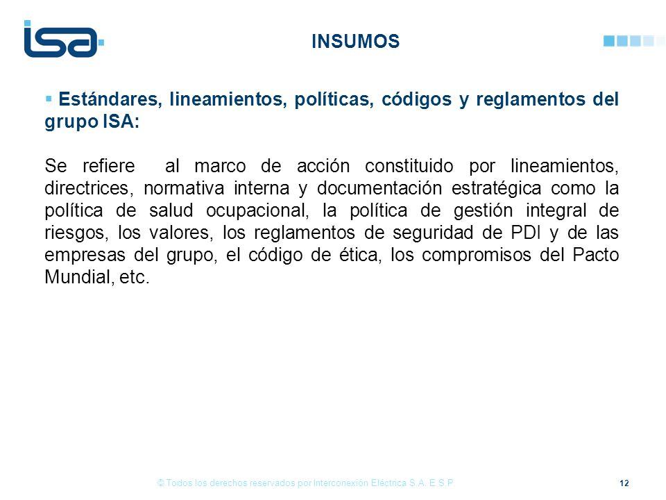 12 © Todos los derechos reservados por Interconexión Eléctrica S.A.