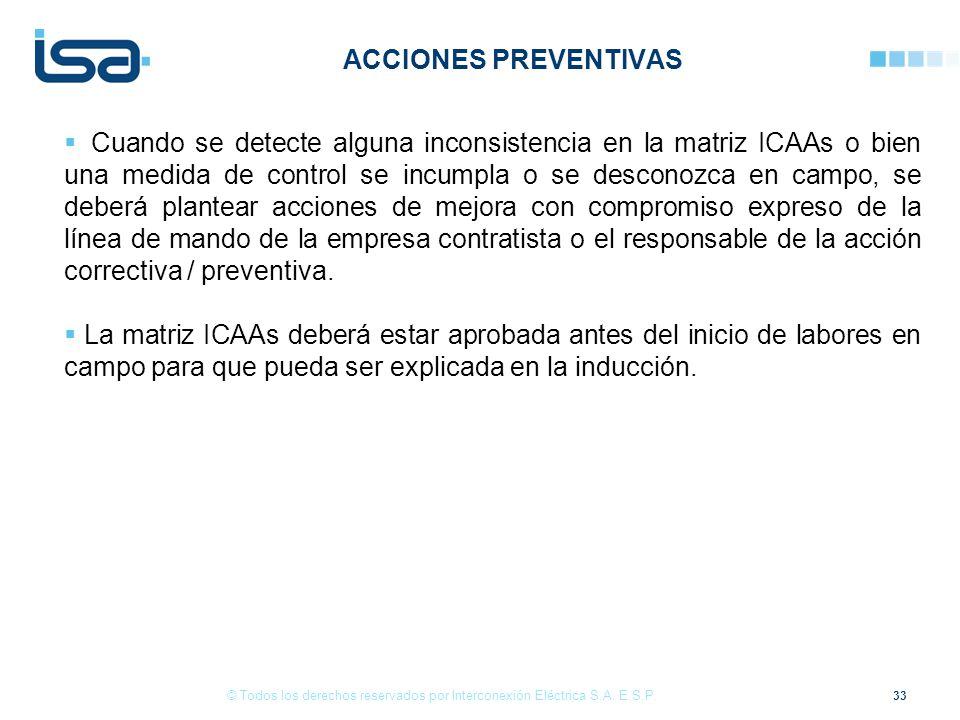 33 © Todos los derechos reservados por Interconexión Eléctrica S.A.