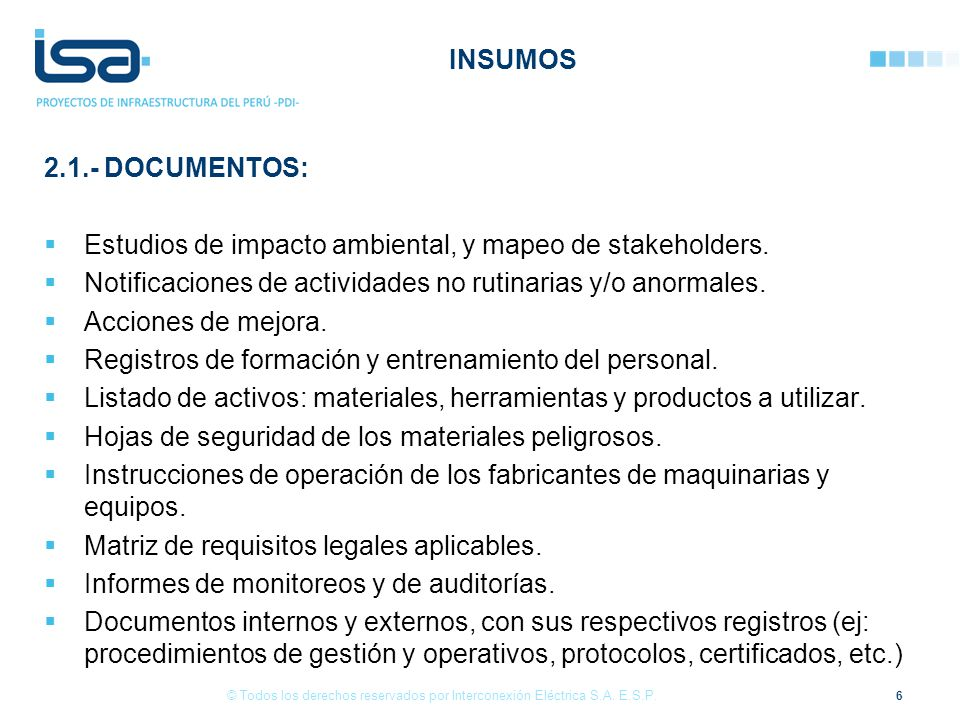 27 © Todos los derechos reservados por Interconexión Eléctrica S.A.