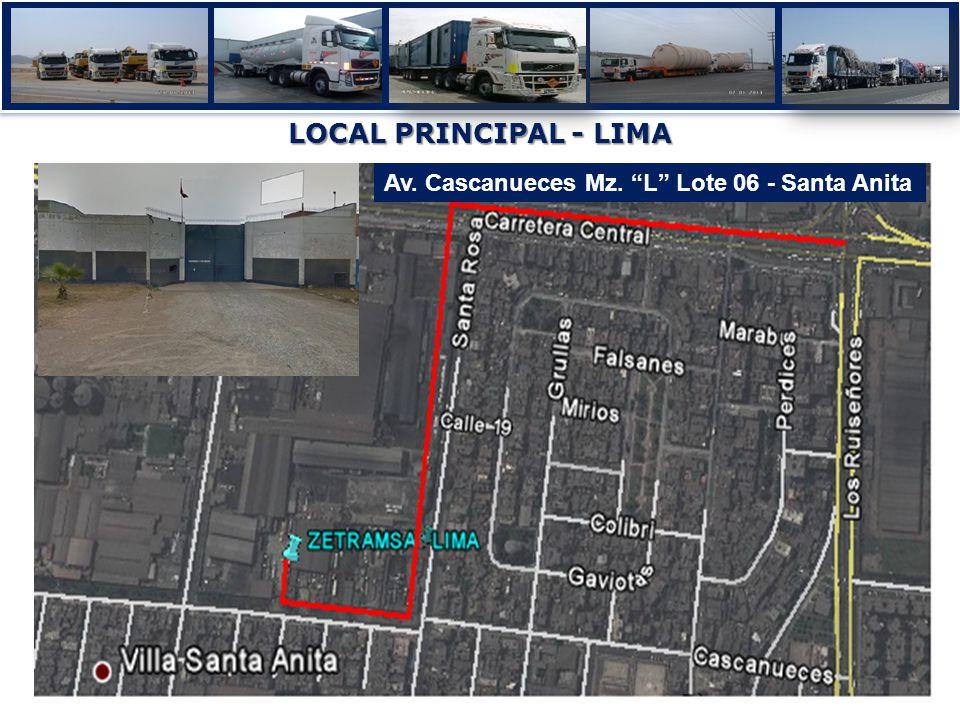 LOCAL PRINCIPAL - LIMA Av. Cascanueces Mz. L Lote 06 - Santa Anita