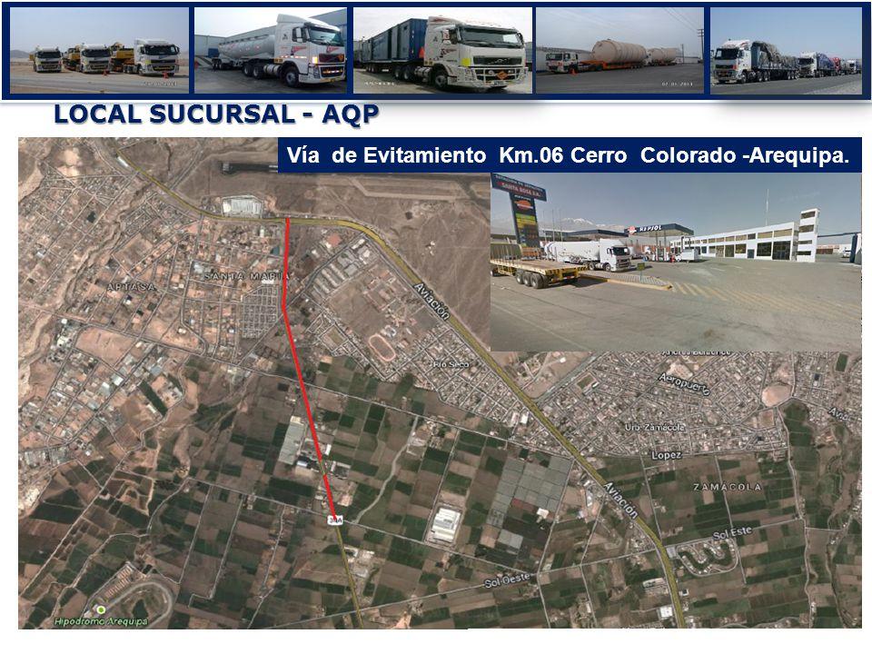 Vía de Evitamiento Km.06 Cerro Colorado -Arequipa. LOCAL SUCURSAL - AQP