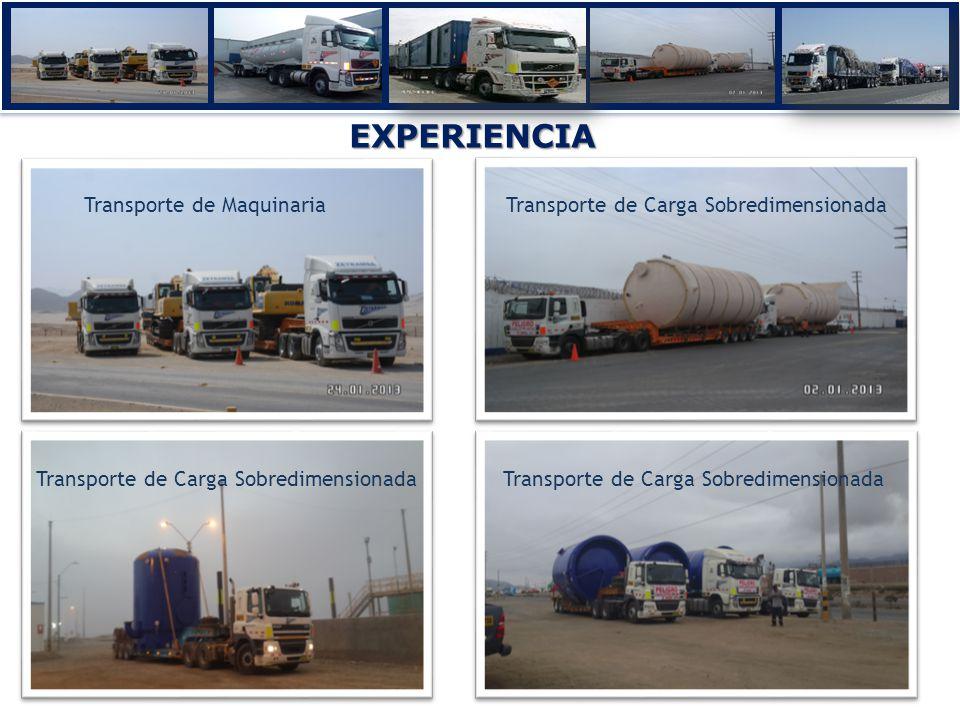EXPERIENCIA Transporte de MaquinariaTransporte de Carga Sobredimensionada