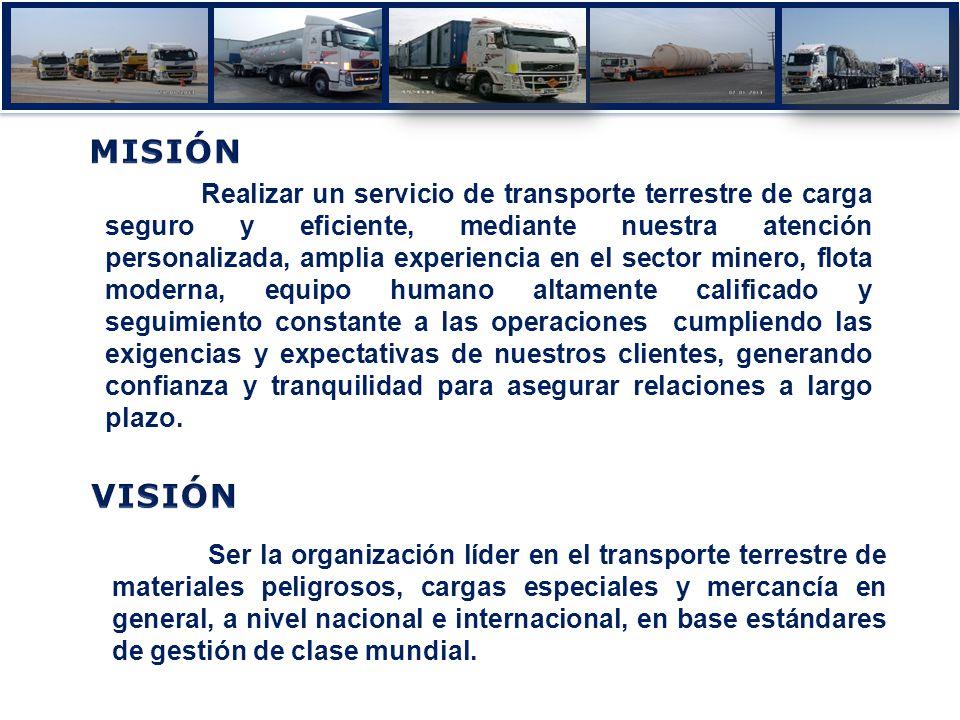 Realizar un servicio de transporte terrestre de carga seguro y eficiente, mediante nuestra atención personalizada, amplia experiencia en el sector min