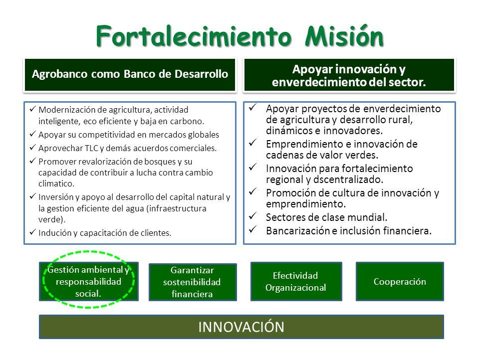 Fortalecimiento Misión Modernización de agricultura, actividad inteligente, eco eficiente y baja en carbono.