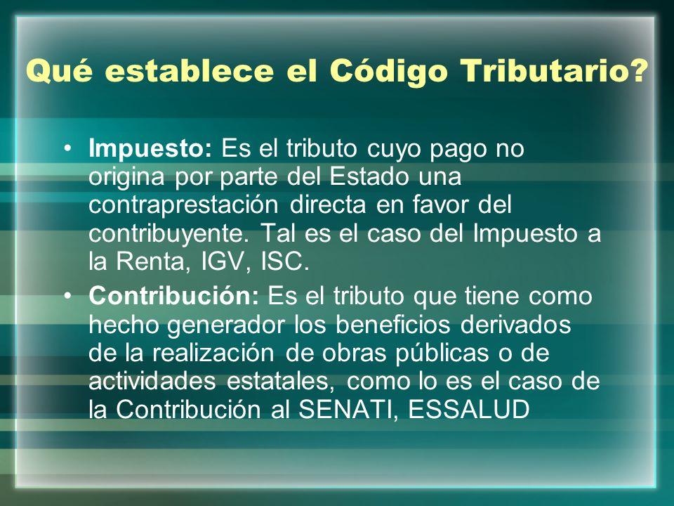 Tasa: Es el tributo que se paga como consecuencia de la prestación efectiva de un servicio público, individualizado en el contribuyente, por parte del Estado.