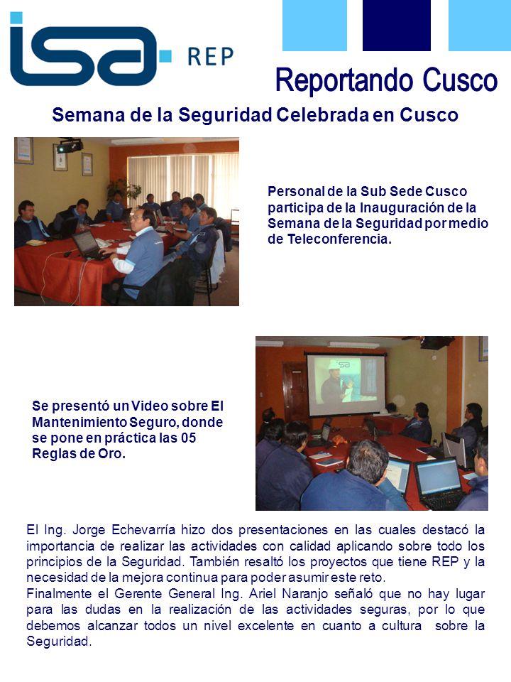 Personal de la Sub Sede Cusco participa de la Inauguración de la Semana de la Seguridad por medio de Teleconferencia.