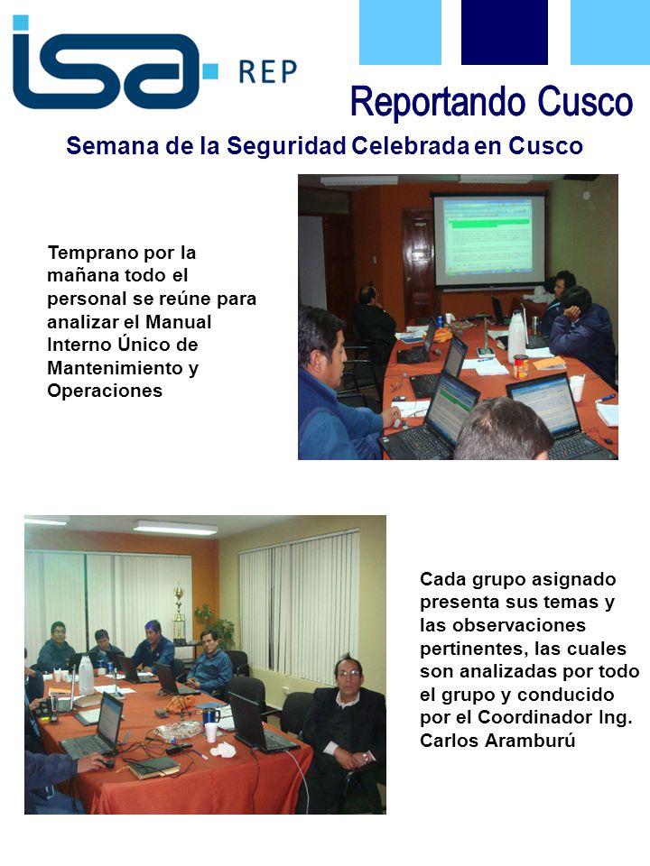 Semana de la Seguridad Celebrada en Cusco El programa de Manos Productivas 2009, coincidió con la Semana de la Seguridad.