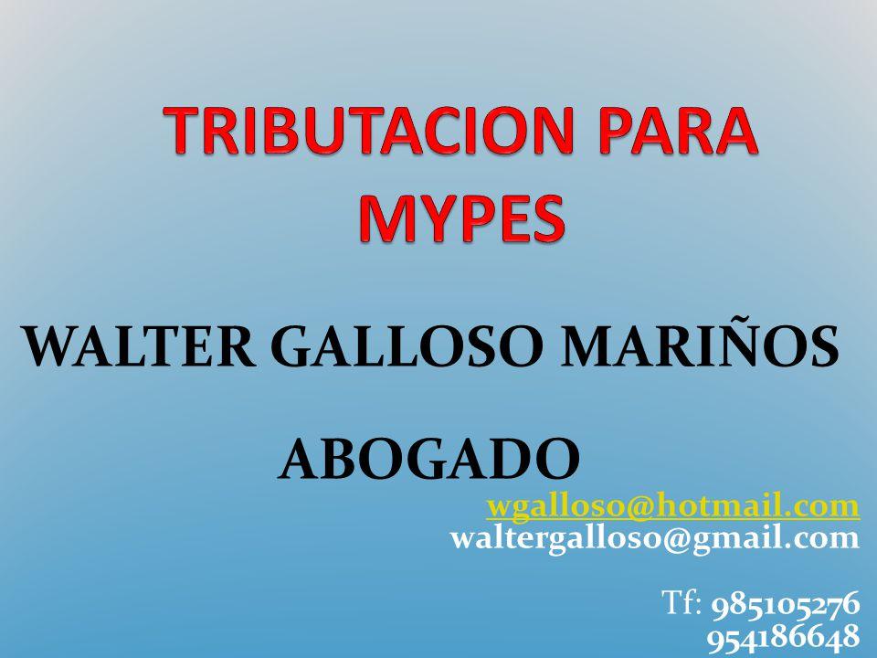 WALTER GALLOSO MARIÑOS ABOGADO wgalloso@hotmail.com waltergalloso@gmail.com Tf: 985105276 954186648