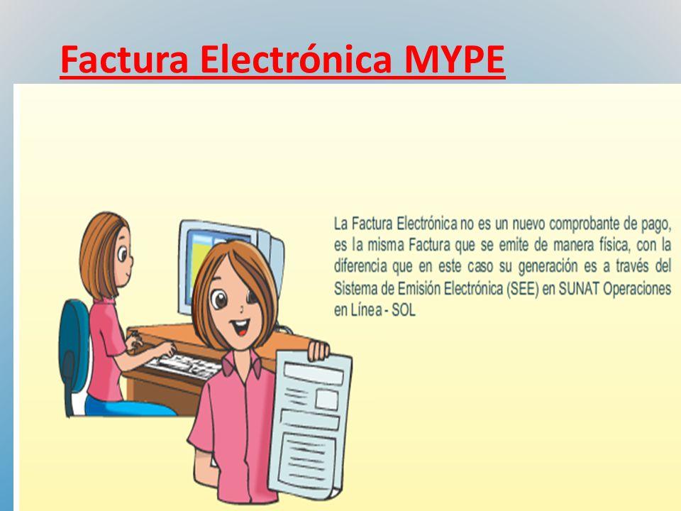 Factura Electrónica MYPE