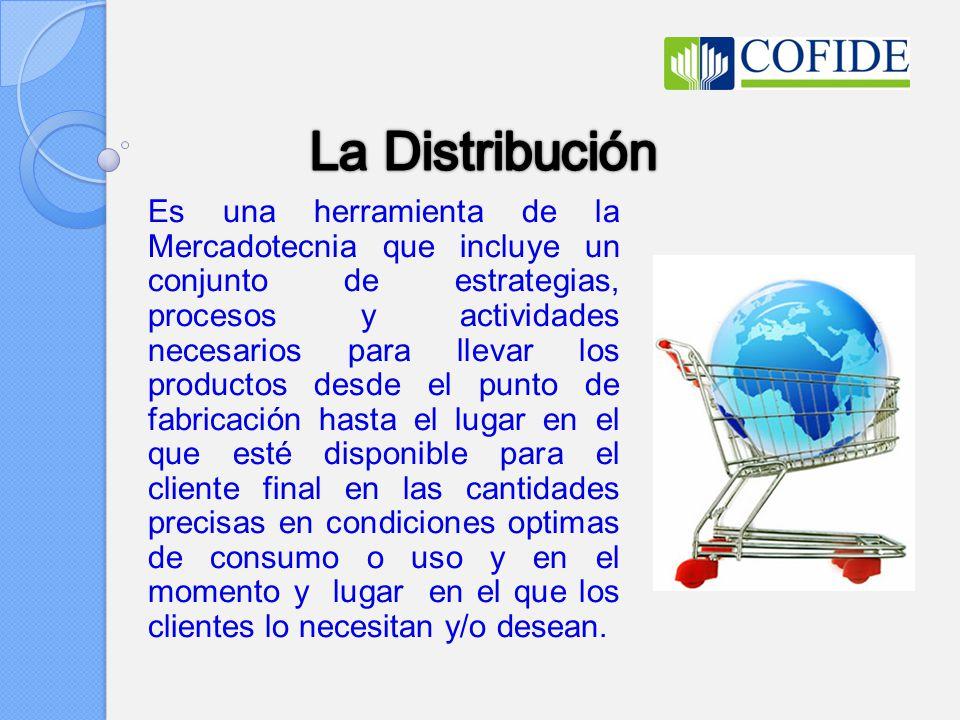 Es una herramienta de la Mercadotecnia que incluye un conjunto de estrategias, procesos y actividades necesarios para llevar los productos desde el pu