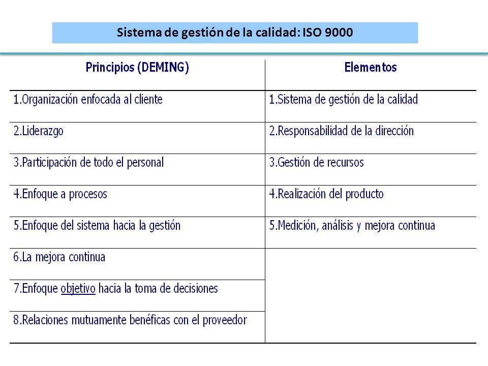 Sistema de gestión de la calidad: ISO 9000