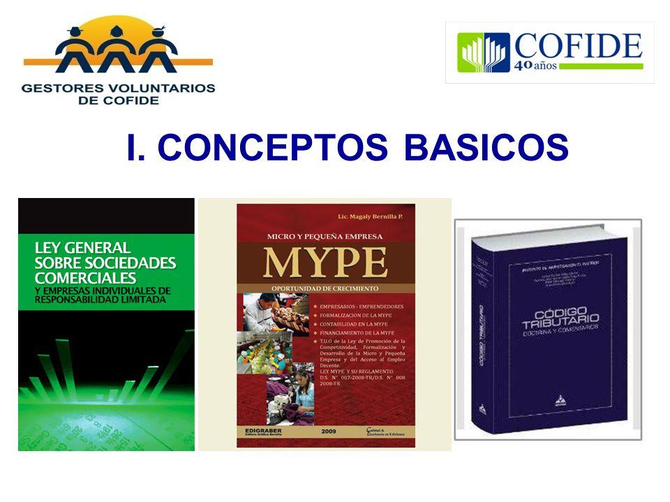 I. CONCEPTOS BASICOS