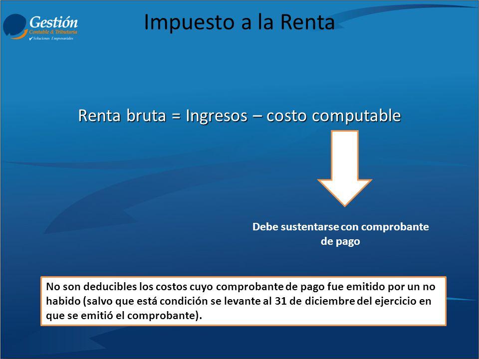Impuesto a la Renta A partir del 01/01/2013 este tipo de diferencias de cambio deberán ser incluidos en los resultados del ejercicio.