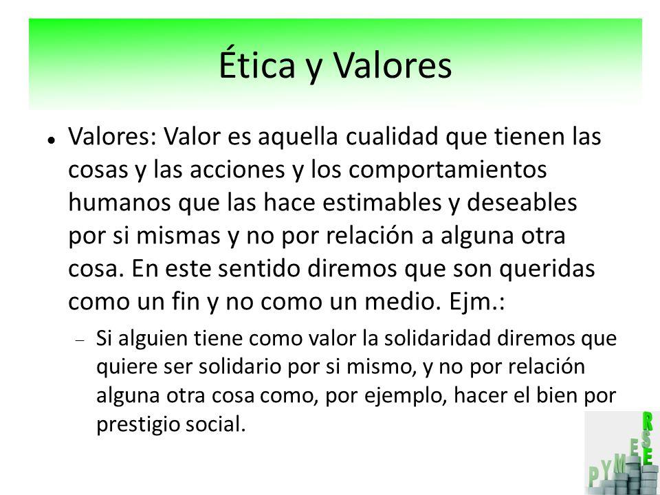 Valores: Valor es aquella cualidad que tienen las cosas y las acciones y los comportamientos humanos que las hace estimables y deseables por si mismas