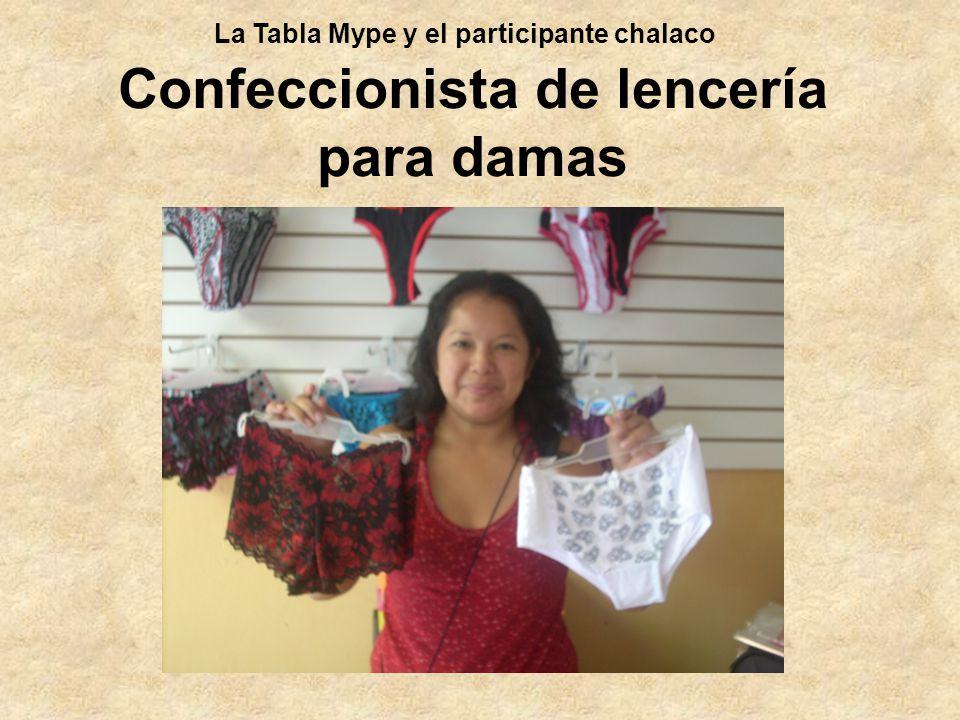 Confeccionista de lencería para damas La Tabla Mype y el participante chalaco