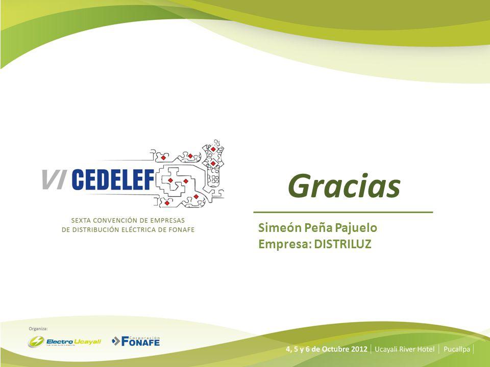 Gracias Simeón Peña Pajuelo Empresa: DISTRILUZ