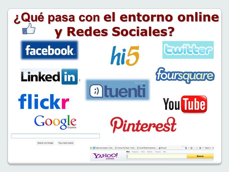 ¿Qué pasa con el entorno online y Redes Sociales? ¿Qué pasa con el entorno online y Redes Sociales?