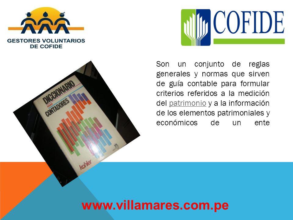 QUE SON LOS PRINCIPIOS DE CONTABILIDAD www.villamares.com.pe