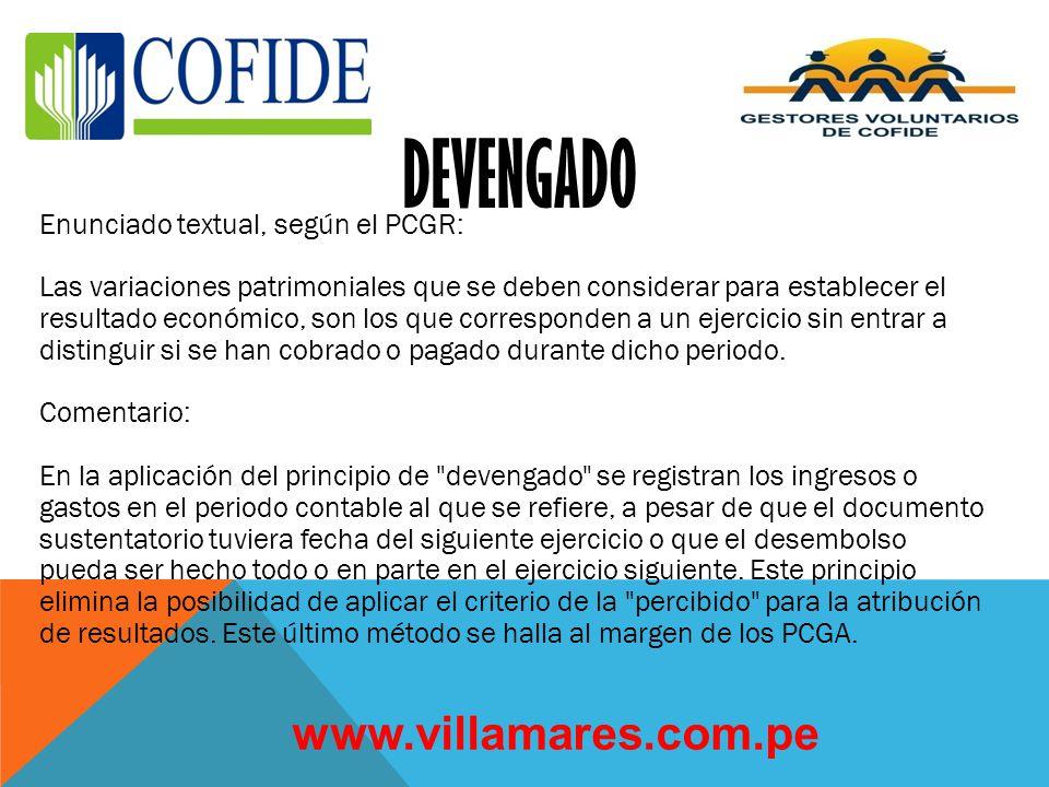 PRINCIPIOS DE CONTABILIDAD BASICOS www.villamares.com.pe