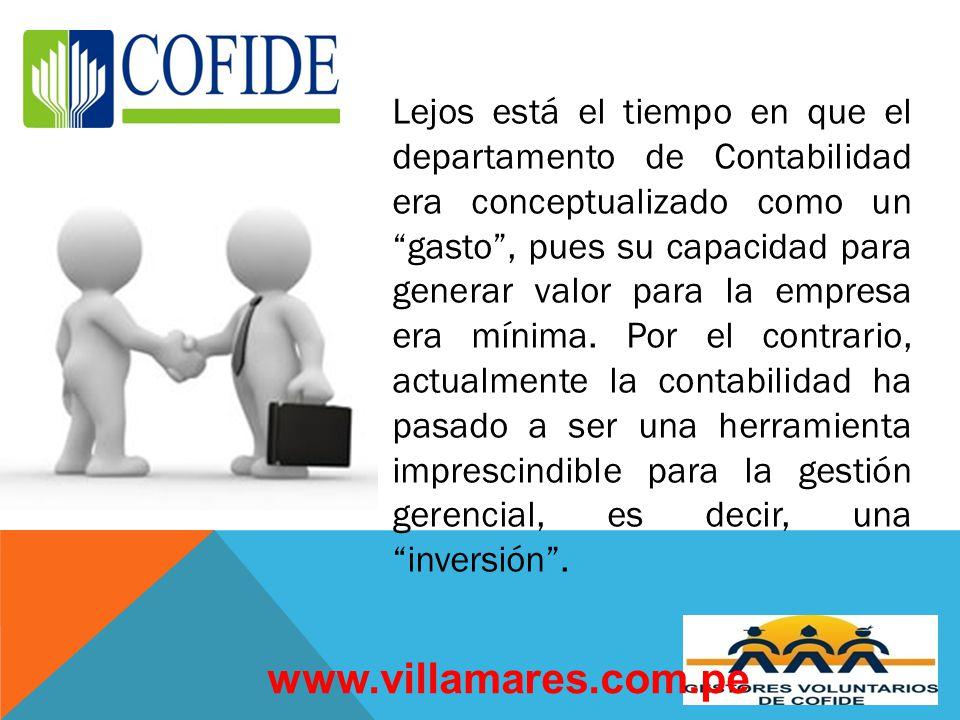 Lejos está el tiempo en que el departamento de Contabilidad era conceptualizado como un gasto, pues su capacidad para generar valor para la empresa era mínima.