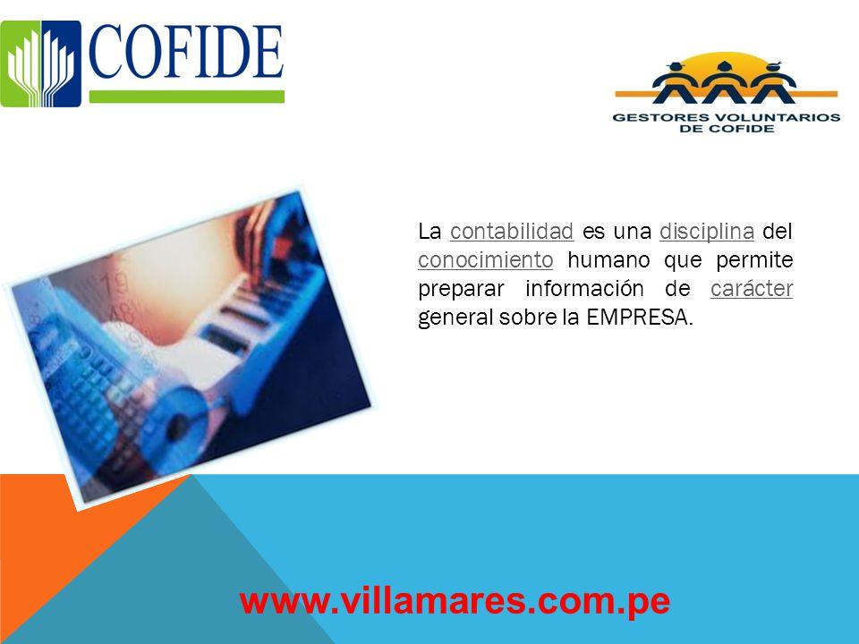 QUE ES LA CONTABILIDAD? www.villamares.com.pe