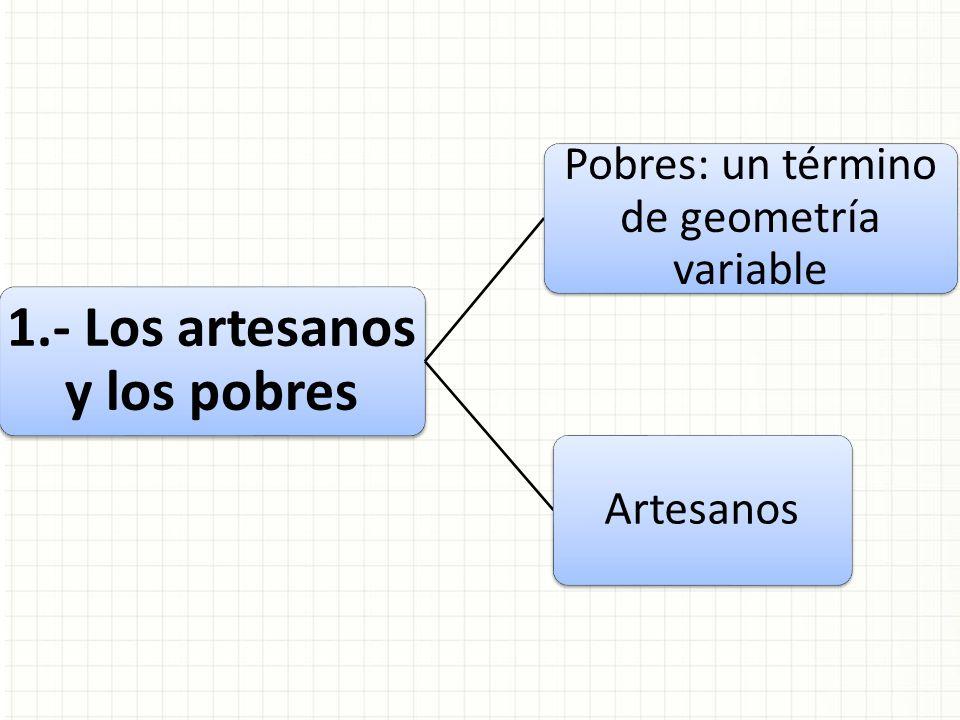 1.- Los artesanos y los pobres Pobres: un término de geometría variable Artesanos