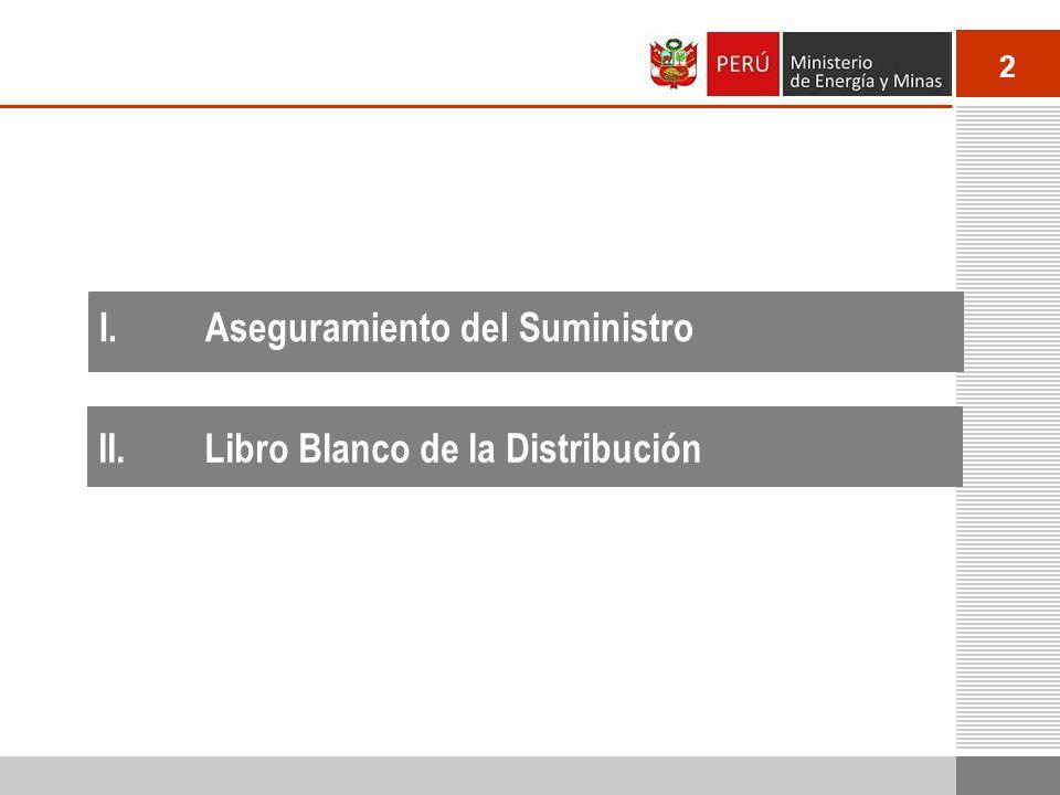 2 I.Aseguramiento del Suministro II.Libro Blanco de la Distribución
