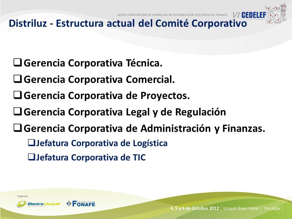 Distriluz - Estructura actual del Comité Corporativo Gerencia Corporativa Técnica.