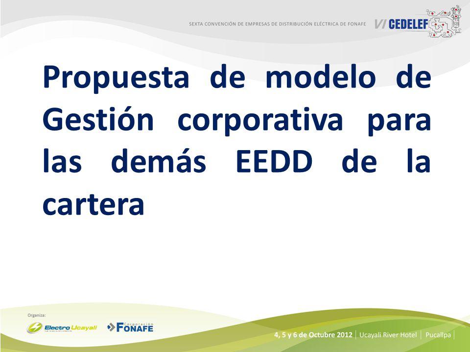 Propuesta de modelo de Gestión corporativa para las demás EEDD de la cartera