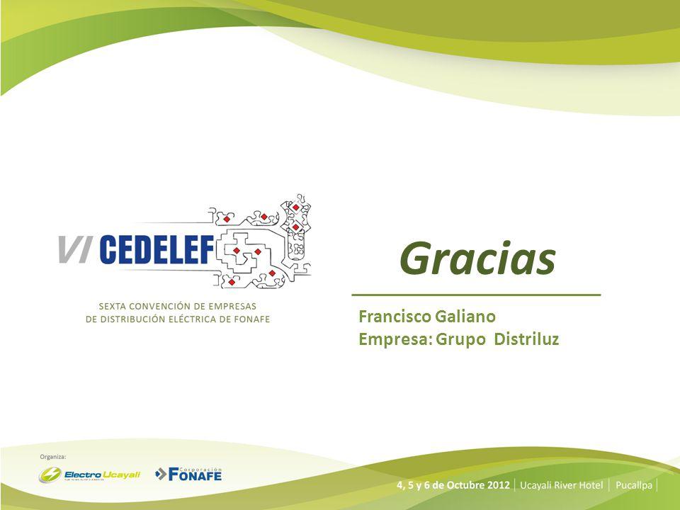 Gracias Francisco Galiano Empresa: Grupo Distriluz
