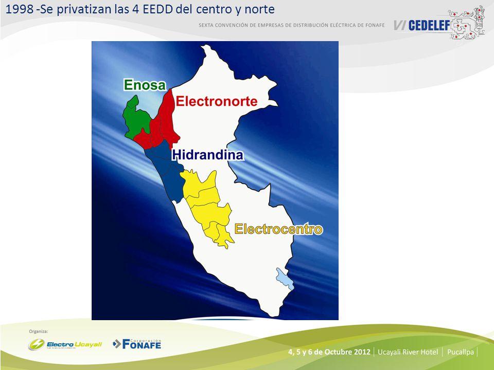 1998 -Se privatizan las 4 EEDD del centro y norte