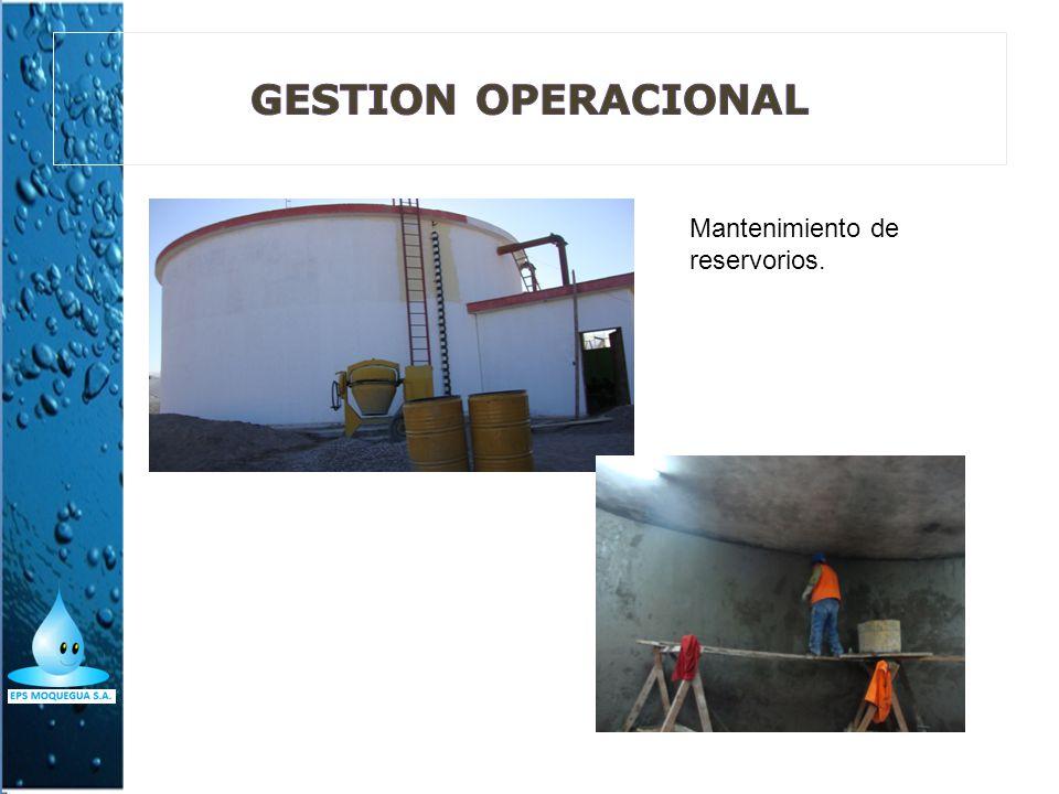 Mantenimiento de reservorios.