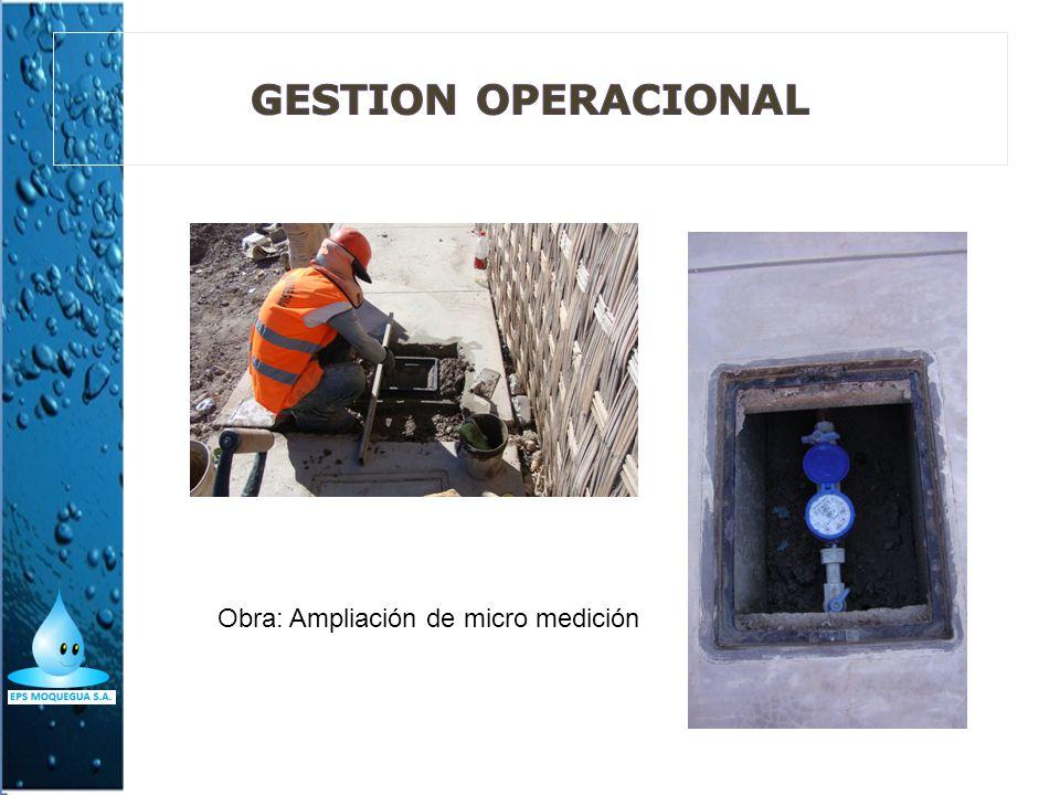 Obra: Ampliación de micro medición