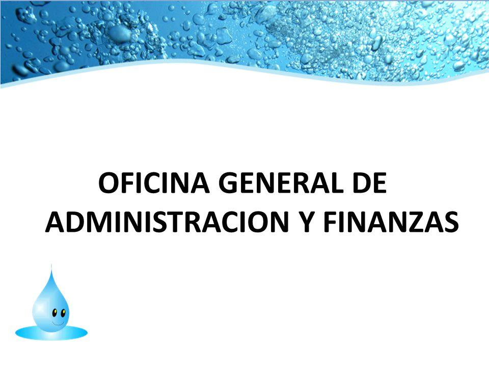 OFICINA GENERAL DE ADMINISTRACION Y FINANZAS