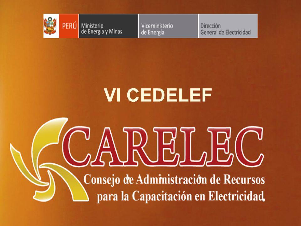 Ministerio de Energía y Minas Dirección General de Electricidad VI CEDELEF