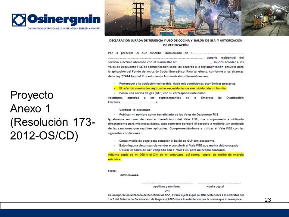 23 Proyecto Anexo 1 (Resolución 173- 2012-OS/CD)