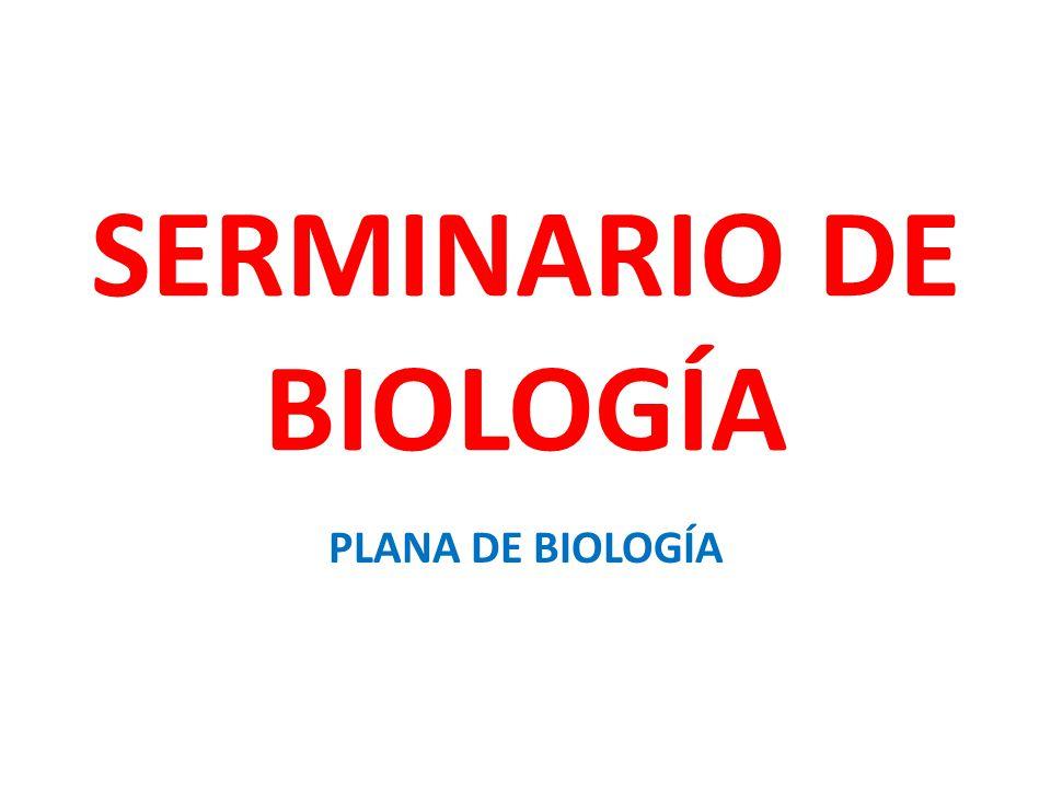SERMINARIO DE BIOLOGÍA PLANA DE BIOLOGÍA