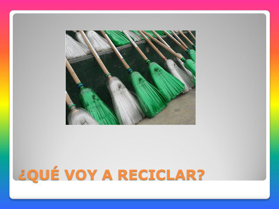 Escoba de plástico MATERIALES: 5 Botellas de gaseosa de 3ltrs.