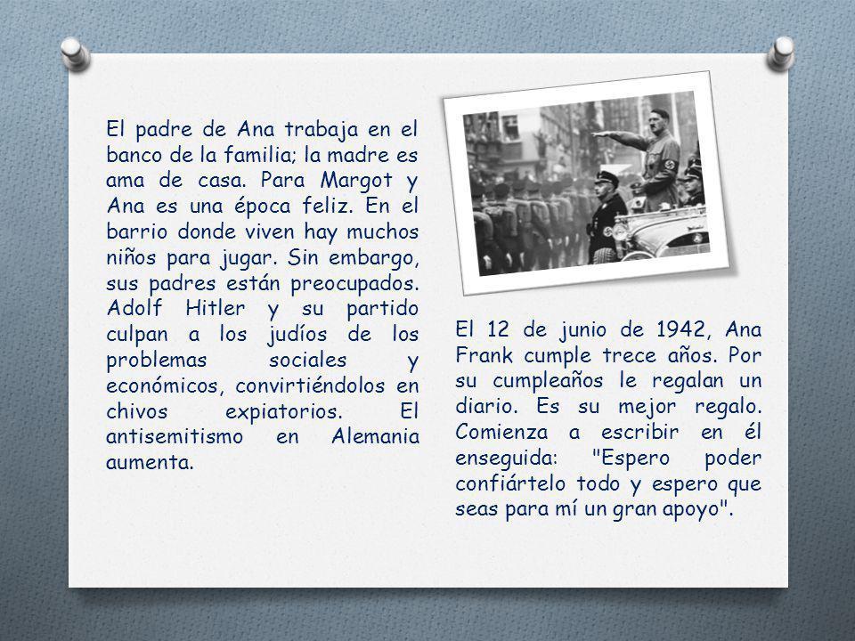Annelies Marie Frank nace el 12 de junio de 1929 en Francfort del Meno (Alemania). Es la segunda hija de Otto Frank y de Edith Holländer. Su hermana M