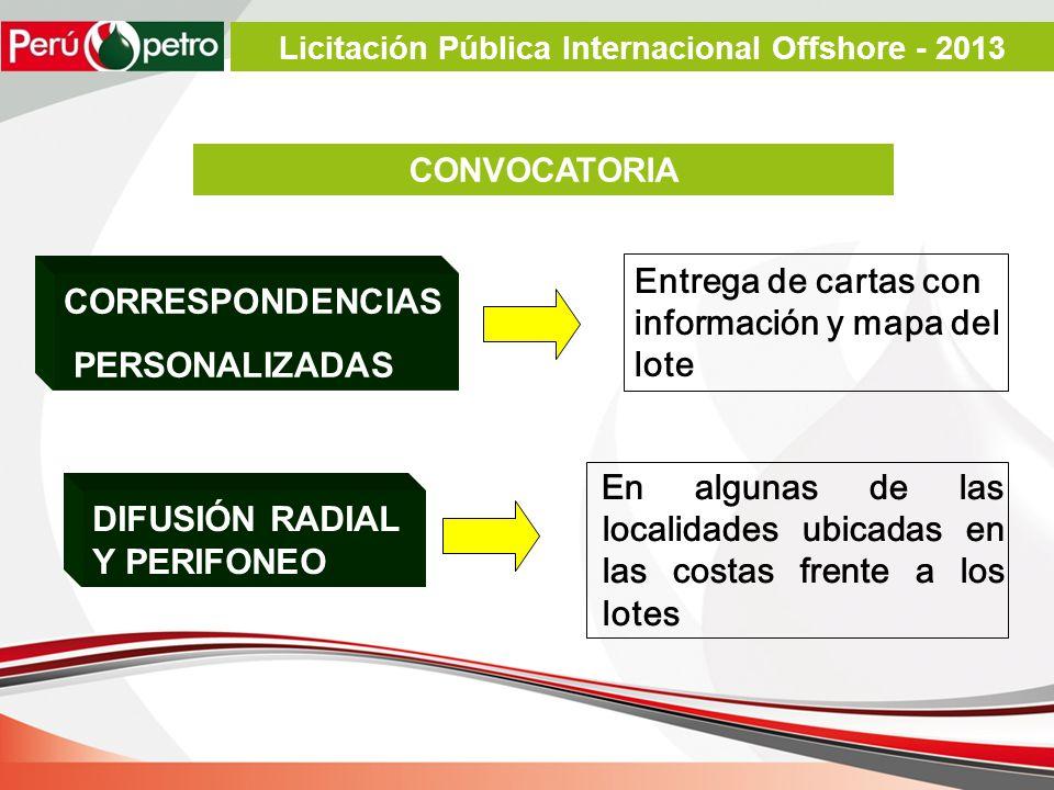 Entrega de cartas con información y mapa del lote En algunas de las localidades ubicadas en las costas frente a los lotes CORRESPONDENCIAS PERSONALIZA