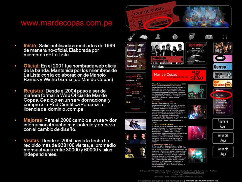 www.mardecopas.com.pe Inicio: Salió publicada a mediados de 1999 de manera no-oficial.