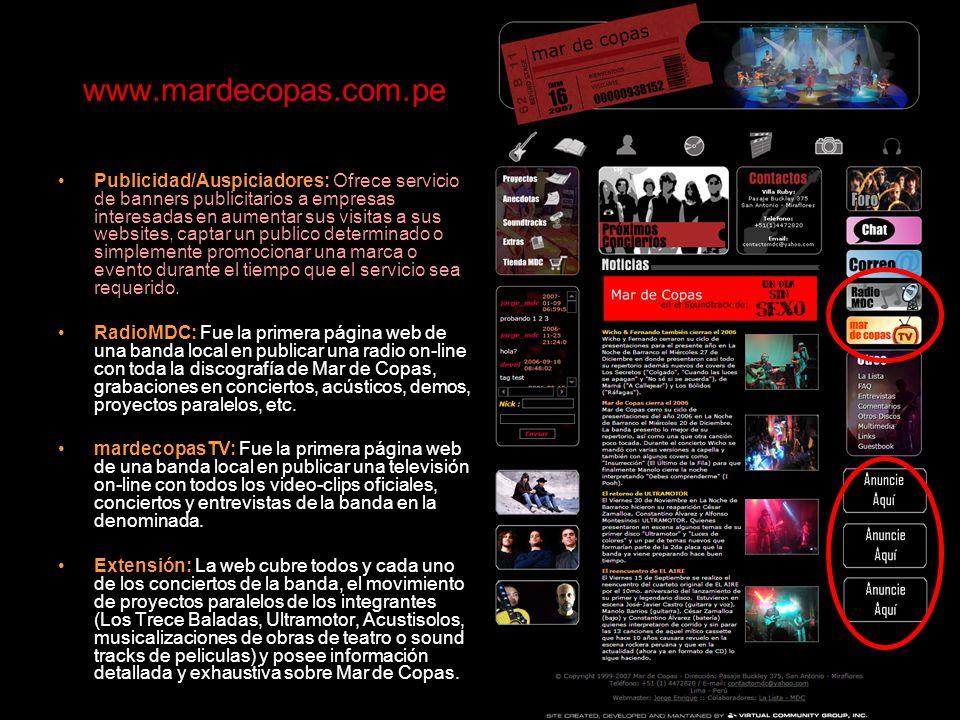 www..com.pe FORME PARTE DE LA GRAN COMUNIDAD DE TENEMOS UN ESPACIO RESERVADO PARA UD. Y SU EMPRESA