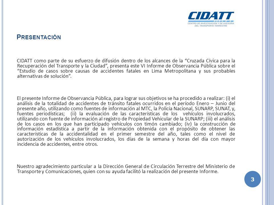P RESENTACIÓN CIDATT como parte de su esfuerzo de difusión dentro de los alcances de la Cruzada Cívica para la Recuperación del Transporte y la Ciudad
